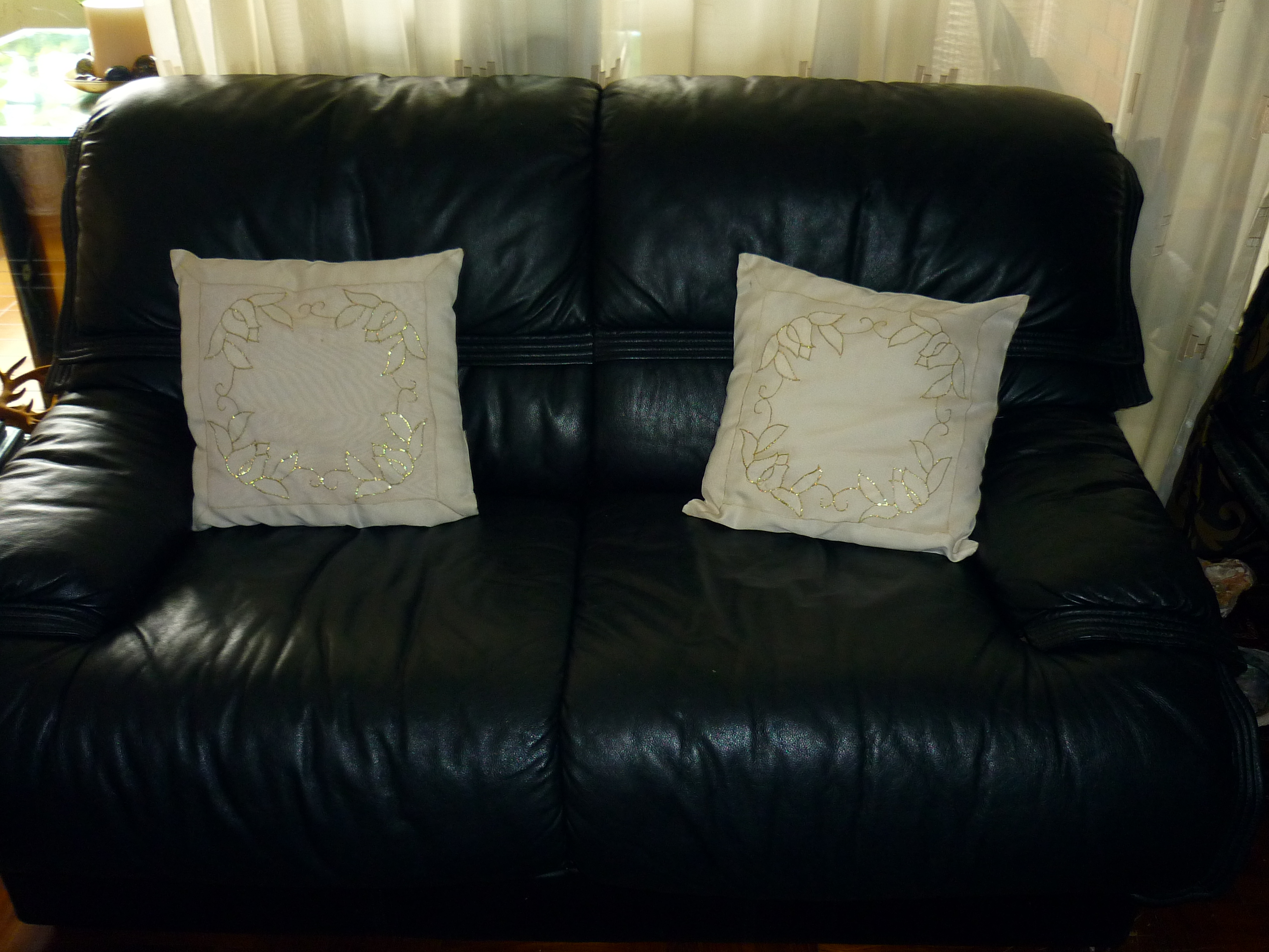 Double seat sofa - full leather