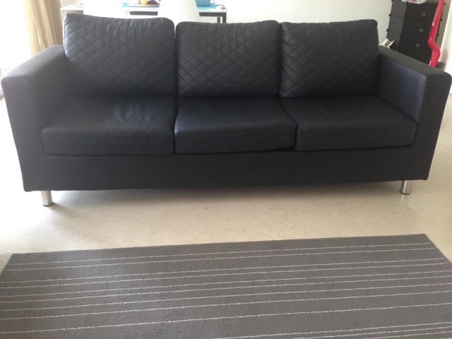 3 seater sofa leather look QTY 30